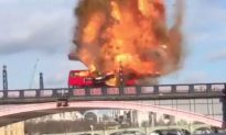 Bus Blows Up On A London Bridge For Movie Stunt