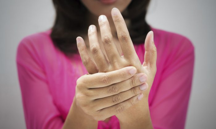 A stock photo of a wrist and hand (iStock)