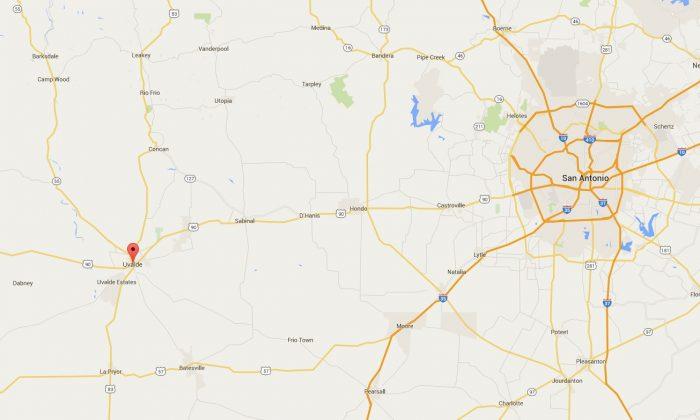 Google Maps screenshot of Uvalde County in Texas. (Google Maps)