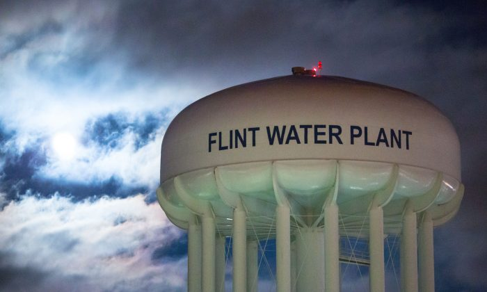 The City of Flint Water Plant in Flint, Mich., on Jan. 23, 2016. A federal state of emergency has been declared in Flint due to dangerous levels of lead contamination in the water supply. (Photo by Brett Carlsen/Getty Images)