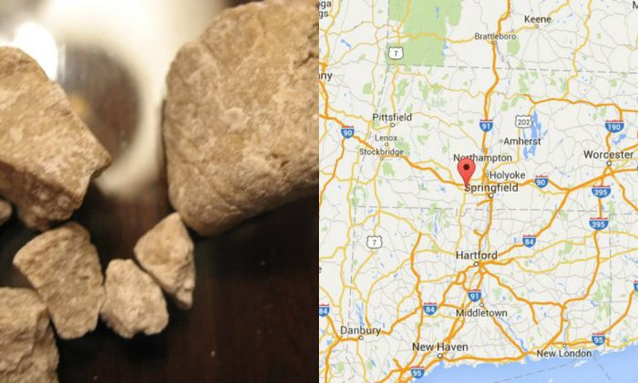 (Public Domain & Google Maps composite)