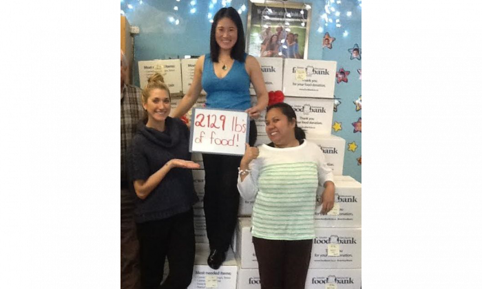 (L-R) Reegen Price, Dr. Sabrina Chen-See, and Kaye Parungao. Vancouver's Pediatric & Family Wellness Chiropractor has kicked off its annual food drive to help the Greater Vancouver Food Bank Society. Thanks to the generosity of the clinic's patients, the goal of donating one tonne of food is expected to be exceeded. (Courtesy of Dr. Sabrina Chen-See)