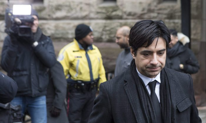 Former CBC radio host Jian Ghomeshi leaves a Toronto courthouse following day six of his trial on Feb. 9, 2016. (Chris Young/The Canadian Press)