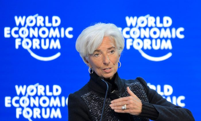 IMF Managing Director Christine Lagarde at the World Economic Forum annual meeting in Davos on Jan. 23, 2016. (Fabrice Coffrini/AFP/Getty Images)