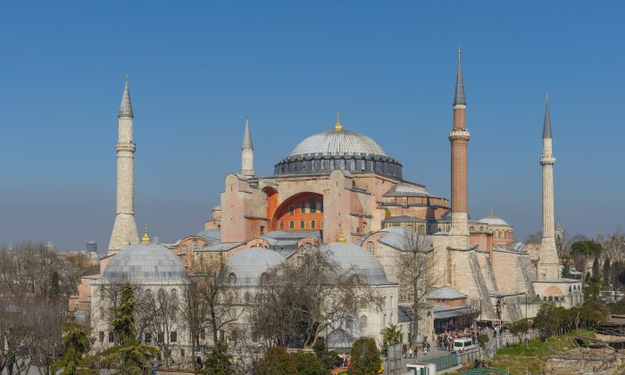 Istanbul's iconic Hagia Sophia, a former Christian patriarchal basilica, later an imperial mosque, and now a museum. It is considered the epitome of Byzantine architecture. (Arild Vågen/Public Domain)