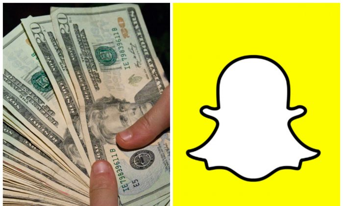 Left: $20 bills. (Steven Depolo/CC BY 2.0) Right: Snapchat image. (Brayan D.D./CC BY-SA 4.0)
