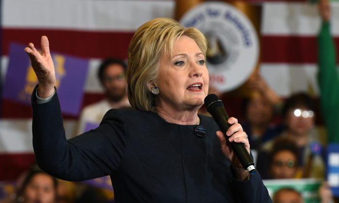 Democratic presidential candidate Hillary Clinton speaks during a get-out-the-caucus event on Feb. 13, 2016 in Henderson, Nevada. (Ethan Miller/Getty Images)