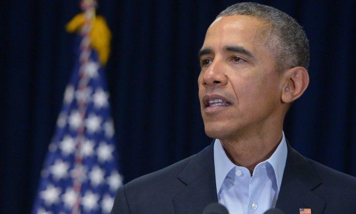 President Barack Obama speaks on the death of Supreme Court Justice Antonin Scalia in Rancho Mirage, Calif., on Feb. 13, 2016. (Mandel Ngan/AFP/Getty Images)