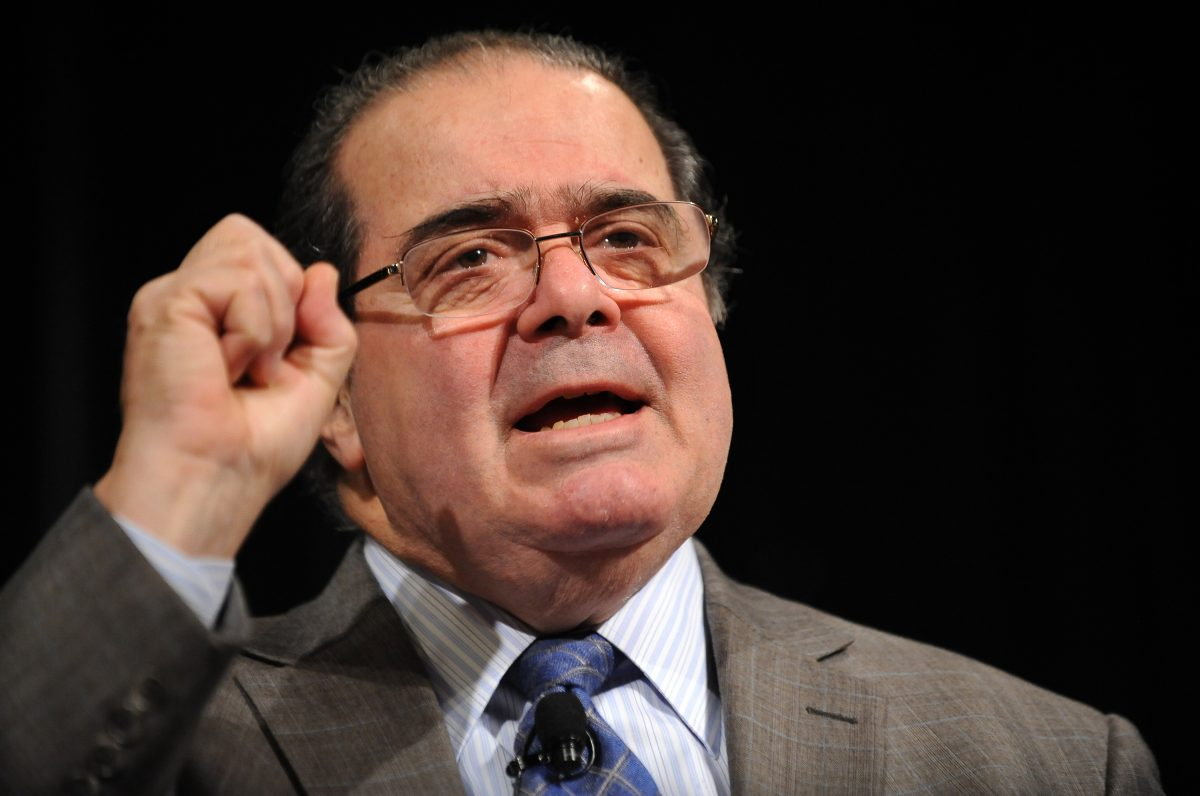 "Supreme Court Justice Antonin Scalia at the American Bar Association (ABA) 59th annual ""Antitrust Law Spring"" meeting in Washington, D.C., on March 31, 2011. (Jewel Samad/AFP/Getty Images)"