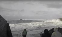 Dangerous Wave Sweeps Elderly Couple Away