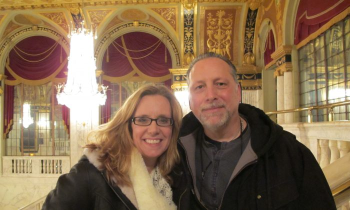 Micaela Orpheus and Joel White enjoyed the artistry of Shen Yun Performing Arts on Feb. 14. (Gary Du/Epoch Times)