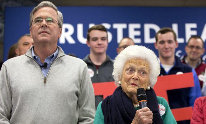 Barbara Bush at a town hall meeting in Derry, N.H.  (AP Photo/Jacquelyn Martin, File)