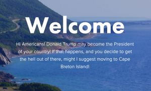 Canadian Island to America: Move Here if Trump Wins