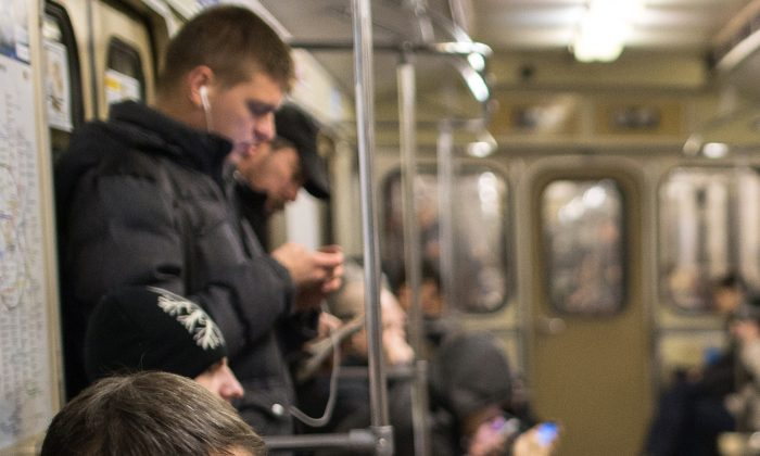Moscow Metro may have high-speed wifi, but Russia has increased Internet censorship considerably says Agora. (DMITRY SEREBRYAKOV/AFP/Getty Images)