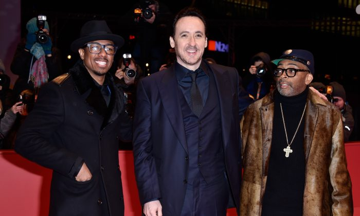 "Actors Nick Cannon, John Cusack and director Spike Lee attend the ""Chi-Raq"" premiere during the 66th Berlinale International Film Festival Berlin February 16th, 2016  (Pascal Le Segretain/Getty Images)"