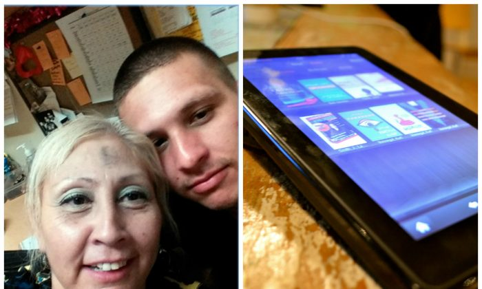 Left: The Los Angeles Police Department Thursday, Feb. 18, 2016 released this undated photo. Authorities believe the pair took selfies with a Kindle stolen from a car in the Reseda neighborhood of Los Angeles Tuesday, Feb. 9, 2016, one day before Ash Wednesday. (Los Angeles Police Department via AP) Right: Amazon Kindle Fire. (Courtney Boyd Myers/CC BY 2.0)