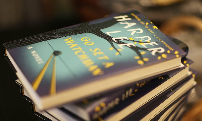 """A pile of """"Go Set a Watchman,"""" by Pulitzer Prize-winning Alabama author Harper Lee at a Books and Books store in Coral Gables, Fla., on July 14, 2015. (Joe Raedle/Getty Images)"""