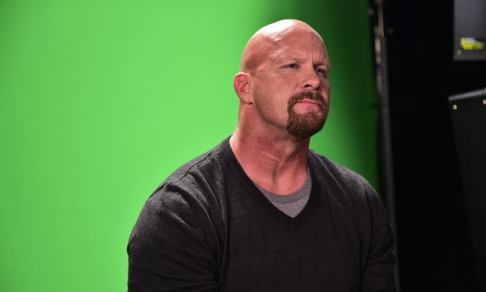 Former WWE Wrestler Stone Cold Steve Austin. (Moses Robinson/Getty Images for Wendy's)