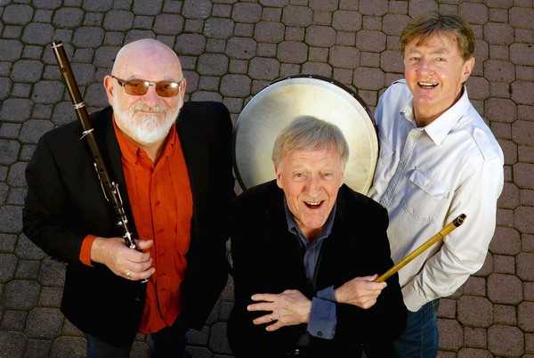 (L to R) Matt Mollow, Paddy Moloney and Kevin Conneff. (Courtesy of Macklan Feldman Management)