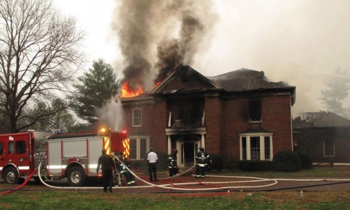 A home in Nashville which burned down after a hoverboard caught fire on Feb. 8. (Nashville Fire Department)
