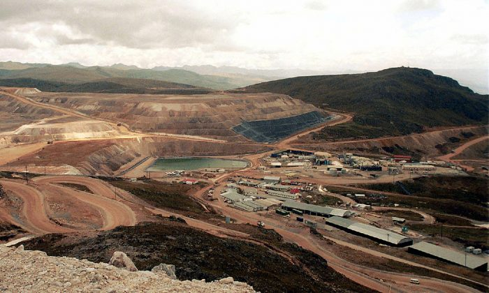 An undated picture of the gold mine Yanacocha, in Cajamarca, 621 miles (1000 kilometers) northeast of Lima, Peru. The biggest gold mine in Latin America, located in the north of Peru, has been crippled by protests from locals who believe activity there has polluted the water supply. Production at the mine, which is run by a subsidiary of U.S. mining group Newmont, the Yanacocha company, was suspended on Aug. 29, 2006. (STR/AFP/Getty Images)
