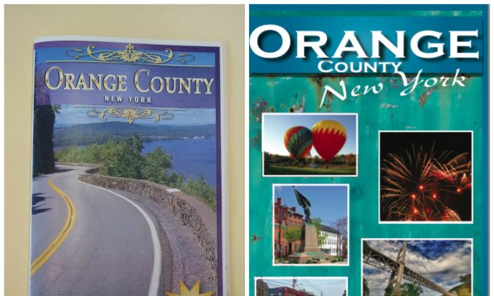 The 2016 Orange County Resource Guide cover (L) taken on Feb. 23, 2016 (Allyson Gillinder) and the cover of the 2014-2015 Orange County Resource Guide cover by Skyline Publishing, Inc.