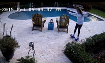 Girl Goes Fishing For Her Hoverboard