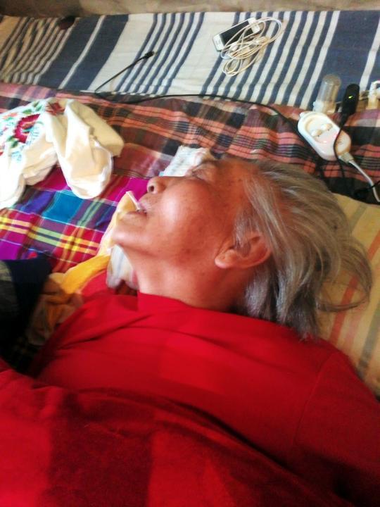 Chen Shuxian in a coma (Minghui.org)