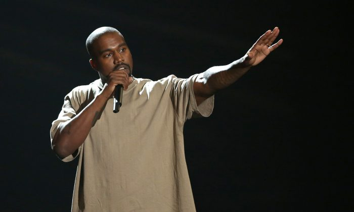 Kanye West accepts the video vanguard award at the MTV Video Music Awards in Los Angeles on Aug. 30, 2015. The rapper has had a very public struggle with his ego. (Photo by Matt Sayles/Invision/AP)