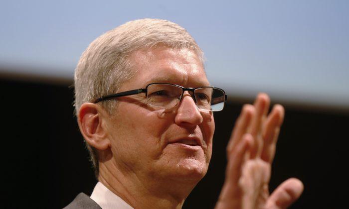Apple CEO Tim Cook speaks in Milan, Italy on Nov. 15, 2015. (AP Photo/Luca Bruno)