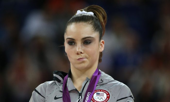 McKayla Maroney won a silver medal on vault at the 2012 London Olympics. (Thomas Coex/AFP/GettyImages)