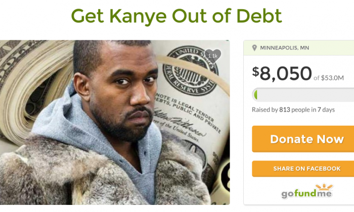 A GoFundMe campaign that was started to help Kanye West has come to an end as the rapper refused the funds. The money will instead be donated to a non-profit which helps aspiring musicians. (GoFundMe)