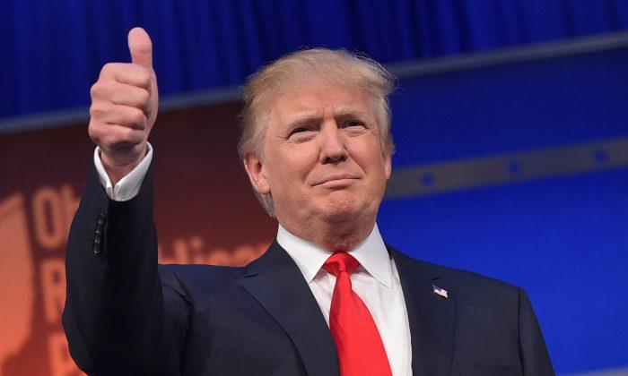 Donald Trump is leading online post-debate polls. (MANDEL NGAN/AFP/Getty Images)