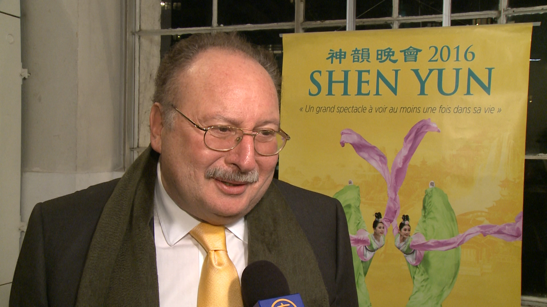"""Fouad II, the last king of Egypt, """"had a wonderful evening"""" at the first Shen Yun Performance in Geneva on Feb. 25, 2016. (NTD Television)"""