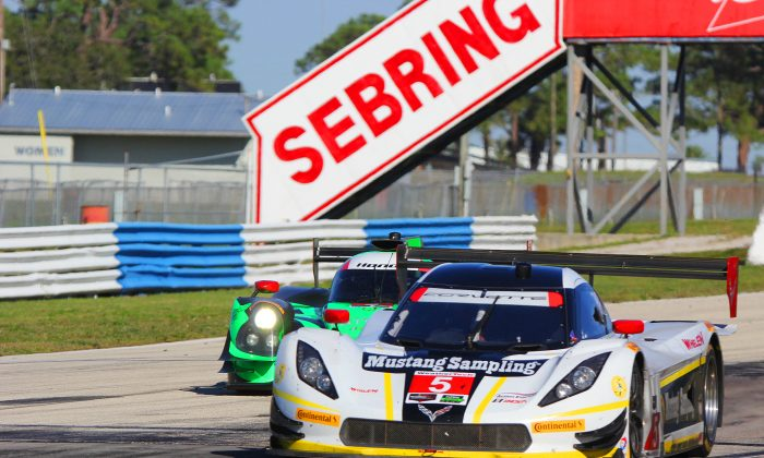 The #5 Action Express Racing Coyote-Corvette was quickest in two of the four sessions of the IMSA WSCC Sebring Winter Test. The #2 Extreme Speed Motorsports Ligier JS P2-Honda was second quickest in two. (Chris Jasurek/Epoch Times)