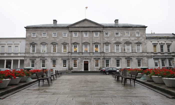 A general view of Leinster House which houses the Seanad chamber, also known as the upper house of the Irish parliament, in Dublin, Ireland, on Oct. 2, 2013. (Peter Muhly/AFP/Getty Images)
