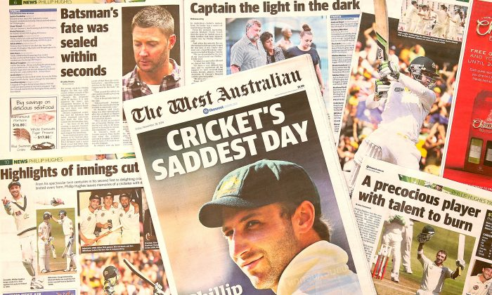 A copy of the West Australian newspaper seen in Perth, Australia, on Nov. 28, 2014. (Paul Kane/Getty Images)