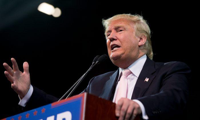 Republican presidential candidate Donald Trump in Valdosta, Ga., Feb. 29, 2016. (AP Photo/Andrew Harnik)