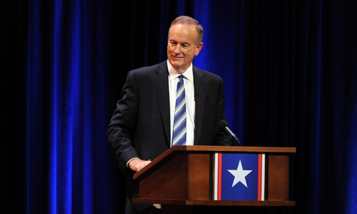 Bill O'Reilly onstage at at George Washington University on October 6, 2012 in Washington, DC.  (Jamie McCarthy/Getty Images for The Rumble 2012)