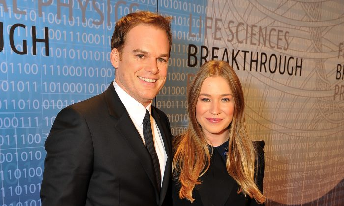 Michael C. Hall and Morgan MacGregor attend the 2014 Breakthrough Prize Inaugural Ceremony for Awards in Fundamental Physics and Life Sciences at NASA Ames Research Center on December 12, 2013 in Mountain View, California. (Steve Jennings/Getty Images for MerchantCantos)
