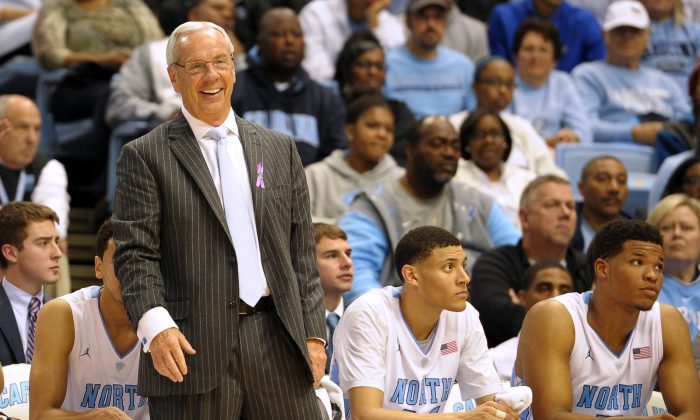 Roy Williams has led the North Carolina Tar Heels to a pair of national titles in his 13 seasons there. (Lance King/Getty Images)