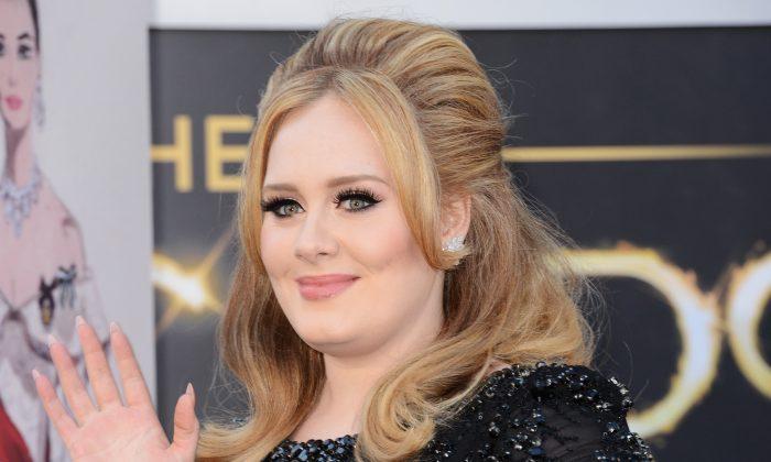 Singer Adele arrives at the Oscars in Hollywood on Feb. 24, 2013. (Jason Merritt/Getty Images)