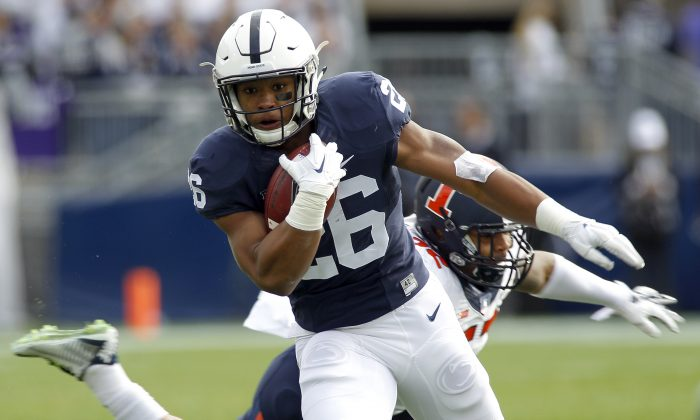 Penn State's Saquon Barkley had five 100-yard rushing games in 2015. (Justin K. Aller/Getty Images)