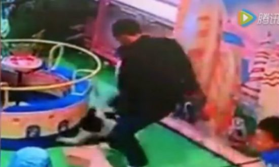 Man Kicks Toddler in the Back for Bumping Into His Daughter at Playground in China