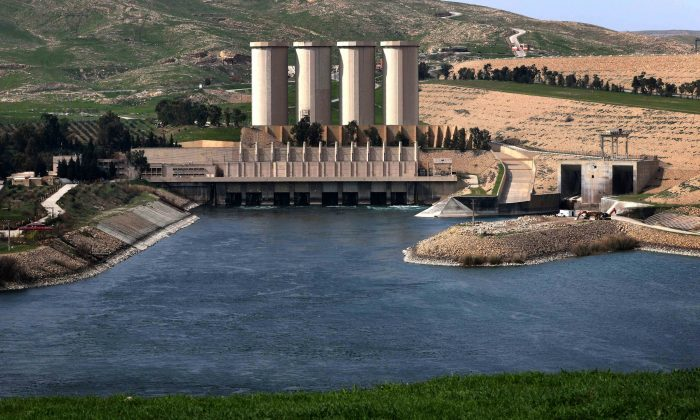 The Mosul Dam on the Tigris River on March 3, 2016. (Safin Hamed/AFP/Getty Images)