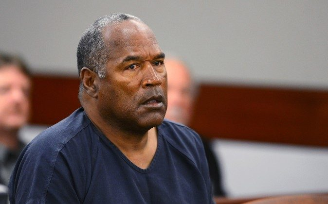 In this May 14, 2013, file photo, O.J. Simpson appears at an evidentiary hearing in Clark County District Court in Las Vegas.(Ethan Miller via AP, Pool)