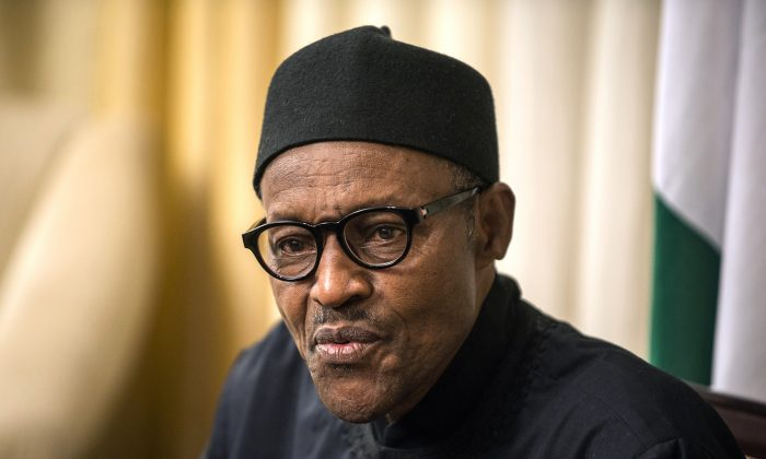 Nigeria's President Muhammadu Buhari gives an interview to AFP during the 25th African Summit in Johannesburg on June 14, 2015. (Mujahid Safodien/AFP/Getty Images)
