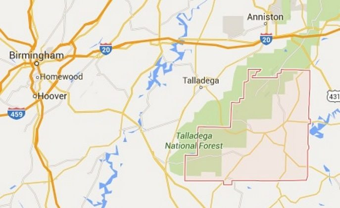 Clay County in Alabama. (Screenshot of Google Maps)