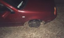 Chief Catches Woman Driving on 3 Tires, With Sparks Flying