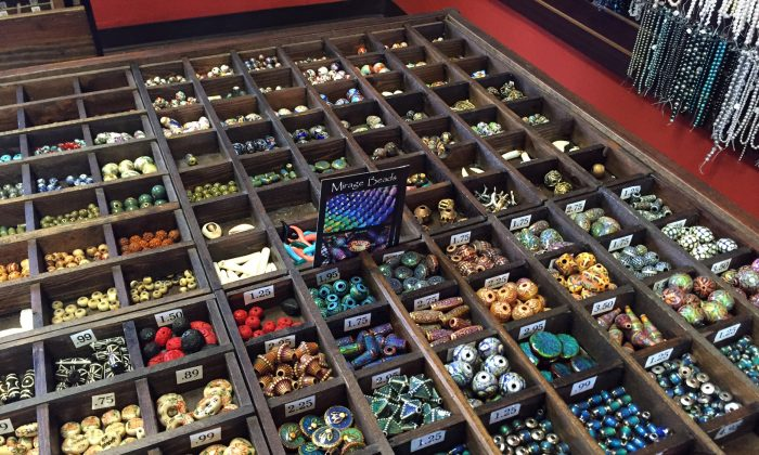 This Tuesday, Feb. 23, 2016 photo shows an array of assorted beads at the Bead Source in the Silver Lake neighborhood of Los Angeles.  (Solvej Schou via AP)